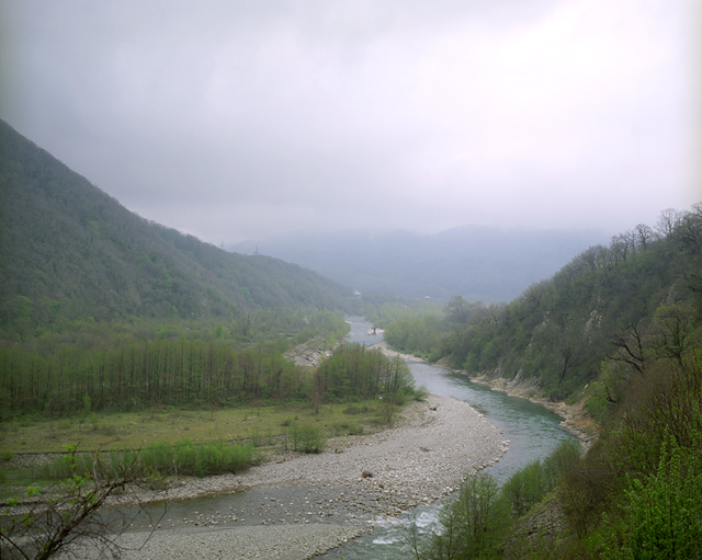 The Ashe river valley located in an area near Sochi where a few thousand Circassians live in compact communities. Before the 19-century Russian-Caucasian war, a large Circassian village was located along the river Ashe – stretched from its mouth up to the mountains for 20 km. During the mid 19th-century Circassian tragedy, all native villages have been completely erased. ASHE VALLEY/SOCHI, RUSSIA, MAY 2009