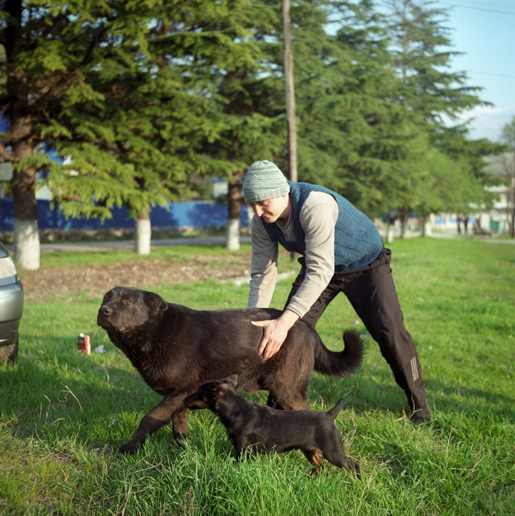 Zaurkhan with his dogs. ASHE/SOCHI, RUSSIA, MAY 2009