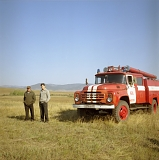Firefighters in the steppe