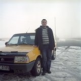 Sedat with his Fiat