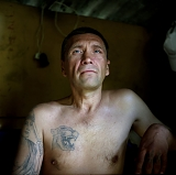 Sasha Gromadsky, 41, took part in the mutiny that broke out at high security prison #6 in Krasnoyarsk in October 1991. Gromadsky is not his family name but a nickname: he served one of his terms in a remote Siberian village of Gromadsk.