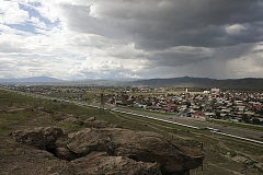 Tuvan capital Kyzyl's eastern suburb Kaa-Khem. The city grew significantly after the collapse of the Soviet economy when thousands of rural residents of Tuva came to Kyzyl in search of jobs, settling, often illegally, on empty lands on the city's outskirts.