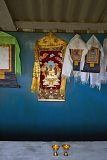 Inside Buddhist sanctuary Sunrap Gyatsoling in Erzin near Mongolian border.