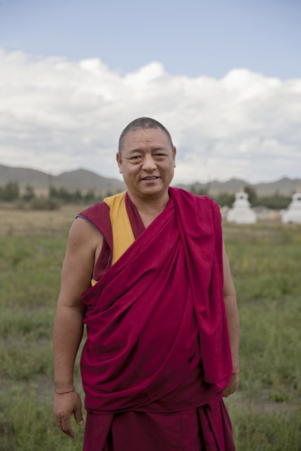 Geshe Dakpa Gyaltsen, 48 - a Tibetan monk visiting Ustuu-Khure - an important Buddhist sanctuary outside Chadan in western Tuva. Reverend Gyaltsen has been living and preaching in Russia since 15 years and has taken up Russian citizenship - a requirement to be able to found and lead religious communities.
