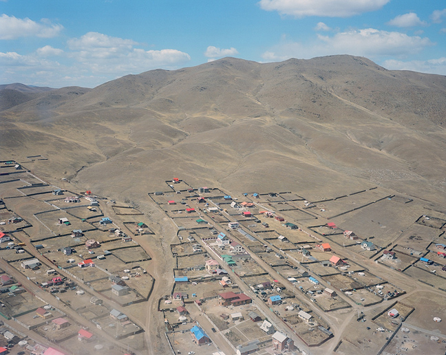 Remote outskirts of Ulaanbaatar seen from helicopter