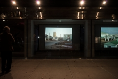 Palimpsests at International Center of Photography in New York City as part of ICP Projected, 2018; photo by Logan Bellew